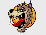 Hungry Wolf Logo branding cartoon vintage flat design draw vector design flat illustration flatdesign illustration