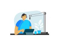 Broadcast cartoon illustrator broadcast flat design draw vector flat illustration flatdesign design illustration
