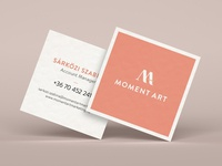 MomentArt marketing agency business card
