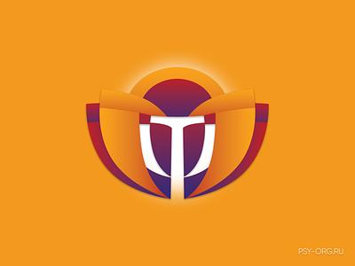 Logo for a psychological company corporate identity psychoanalyst analysis letter violet company logo company psychological branding design 2020 logotype style orange psy psychology logo