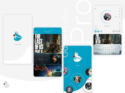 Mobile app_Game Profile 2020 illustrator ai figmadesign figma gamer profile rating group brand logo logotype grey ux ui mobile app blue playstation game