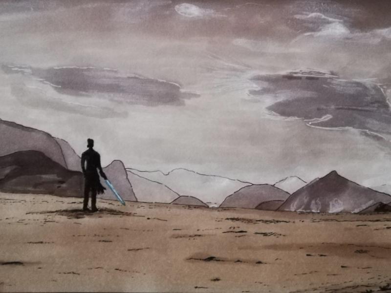 Rey drawing fanart starwars