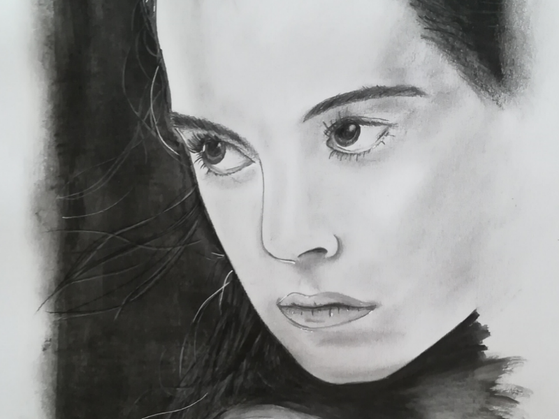 Rey from the force awakens drawing starwars portrait
