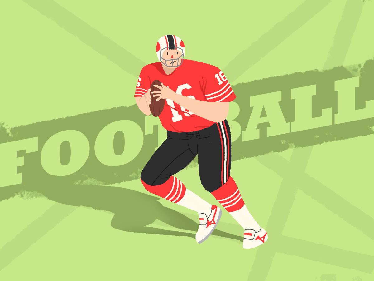 football 设计 插图
