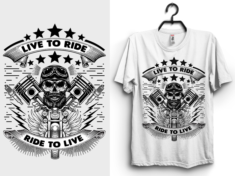 Live to Ride, Ride to Live T-Shirt Design by Tanvir Hossain ...