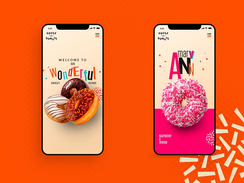HouseofDonuts - Mobile website ux web branding branding concept design digital digitaldesigner ui
