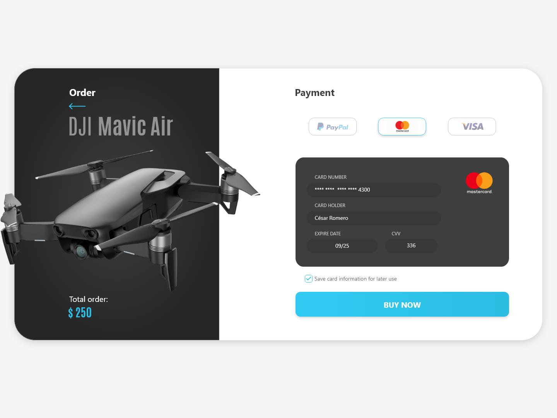 Credit Card Checkout user interface digital ui design uiux ui