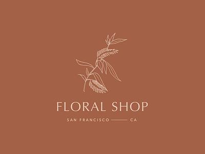 Floral Shop floral flowers logo typography design botanical delicate branding handdrawn illustration