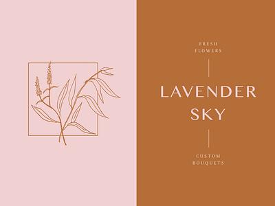 Lavender Sky botanical drawings typography lavender floral flowers branding logo drawing handdrawn illustration