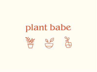 plant babe design plants illustration branding