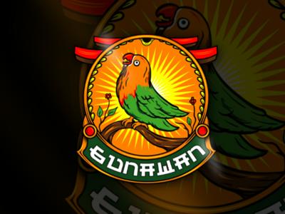 Love bird mascot logo