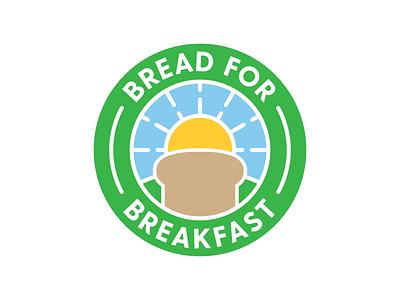 Bread For Breakfast Logo sun circle badge design charity logo