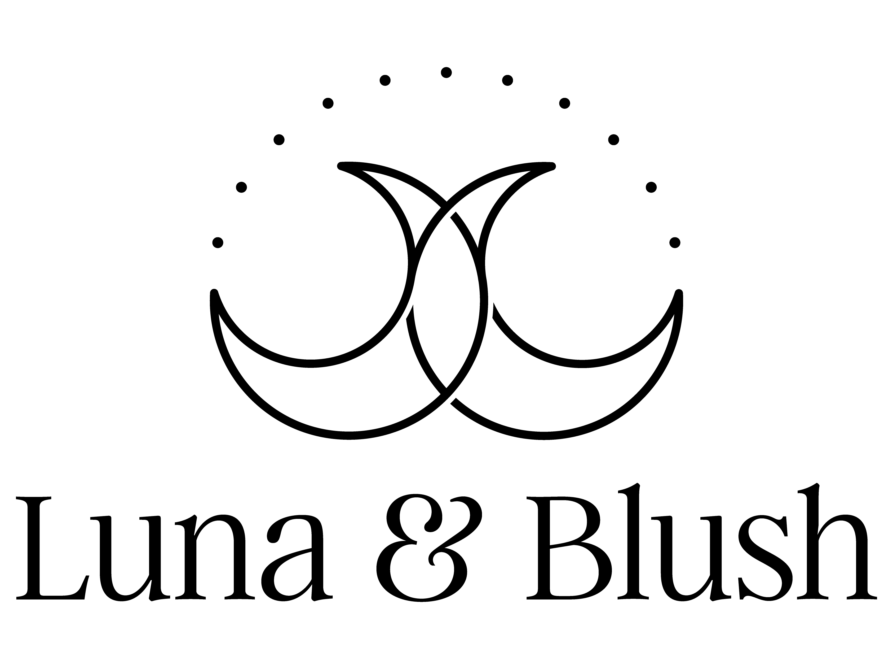 Luna   blush logo final black