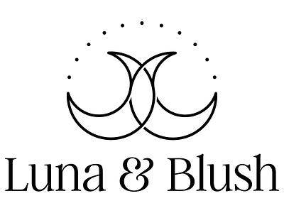Luna & Blush Logo lunar moon ethical business vector branding typography logo design