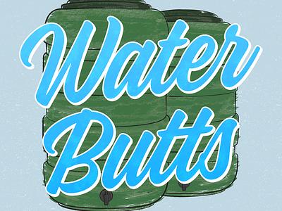 Vegmead Tool Appeal - Water Butts water butt brush gardening illustration community vector design