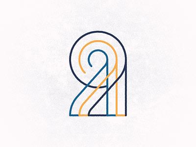 Twenty Nine symbol mark typography monogram vector design 29