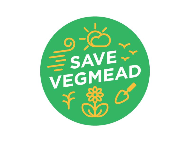 Save Vegmead Badge non-profit icon design icon circle design gardening community vector badge design badge