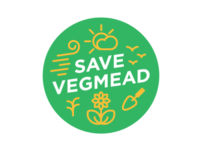 Save Vegmead Badge non-profit icon design icon circle design gardening community vector badge design badge