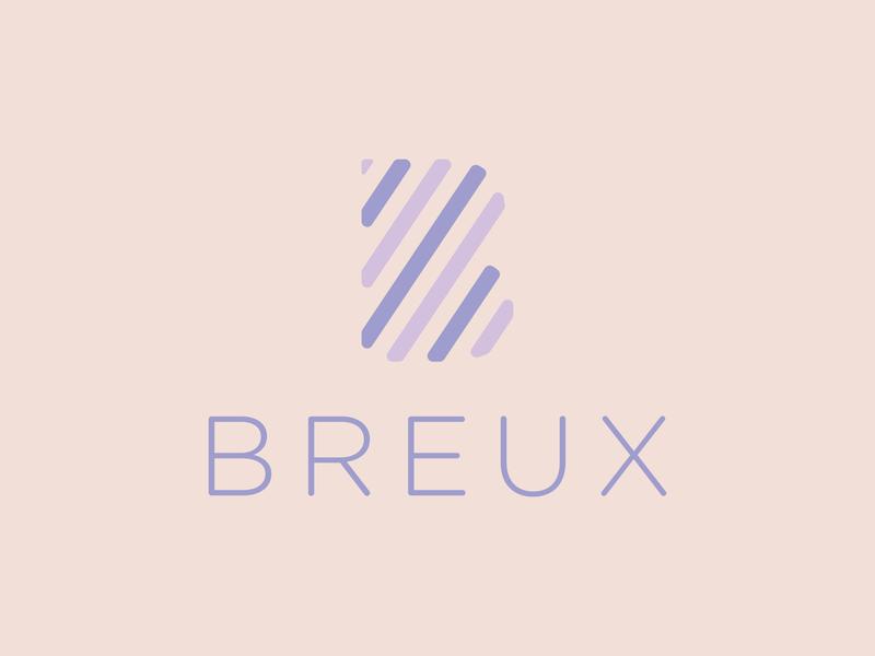 Breux Logo letter b typography branding vector design logo