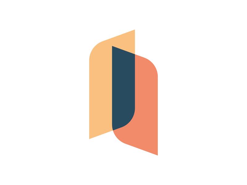 JL Personal Logo mark identity abstract design branding logo