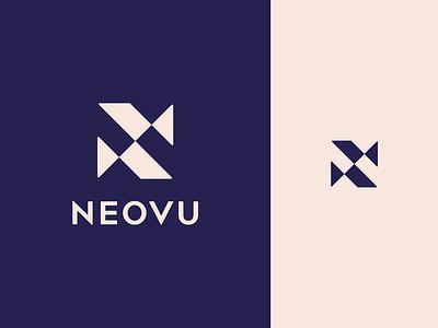 Neovu Logo sans serif letter n symbol modernism modern minimalism minimal monogram mark lettermark identity geometric design branding brand identity abstract logo