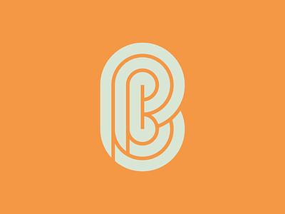 PB mark branding vector design logo thick lines letter b letter p monogram lettermark symbol