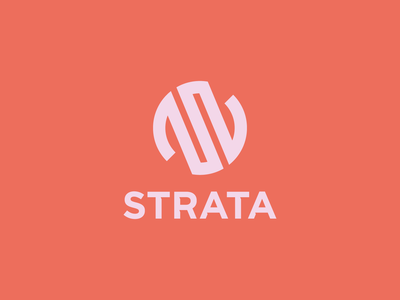Strata Logo geology layers symbol logo design grid abstract branding identity identity mark circle branding design logo