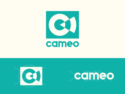 Cameo Logo geometric grid logo grid letter c minimalism modern geometry custom type brand identity branding identity vector typography abstract symbol identity mark circle branding design logo