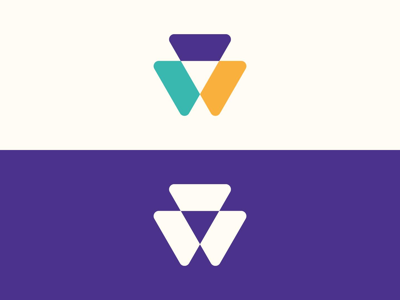 Tri Logo purple minimalist identity icon triangle vector abstract symbol mark branding logo design
