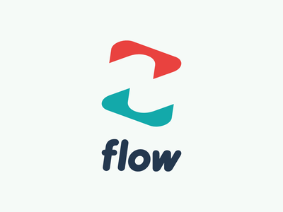 Flow Logo negative space minimal rounded font rounded letters type lettering custom type typography icon brand identity symbol identity mark branding vector logo design