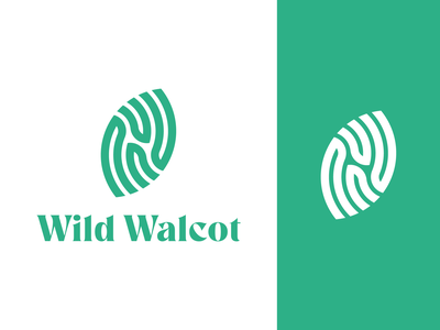 Wild Walcot Logo green volunteering community garden walcot fingerprint leaf minimal vector green fingers gardening community symbol identity branding logo design