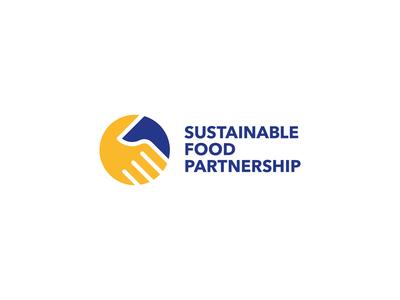 Sustainable Food Partnership Logo symbol mark brand identity community identity circle vector branding logo design