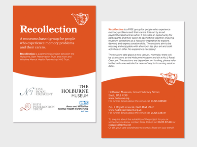 Recollection Project Booklet design museum print booklet