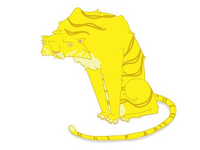 Tiger character illstartion tiger