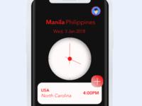 World clock UI design