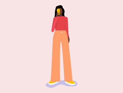 Selfie girl design illustrator illustration art vector illustration girl character woman character design character