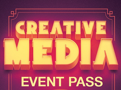 Creativemedia Event Pass Template By Mark Taylor Dribbble Dribbble