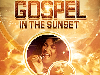 Gospel In The Sunset Church Flyer Template By Mark Taylor  Dribbble