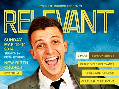 Relevant church magazine flyer template by mark taylor dribbble relevant church magazine flyer template 400 maxwellsz