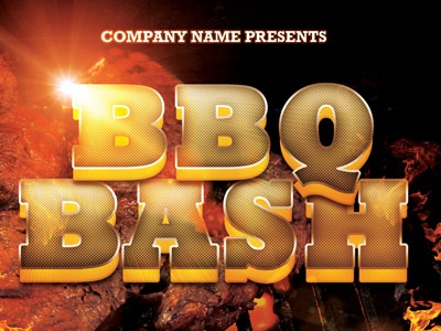 Bbq Bash Event Flyer Template By Mark Taylor  Dribbble