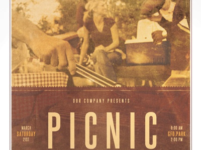 Picnic In The Park Event Flyer Template By Mark Taylor  Dribbble