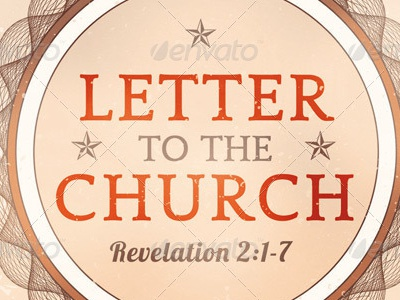 Letter to the Church Flyer Template