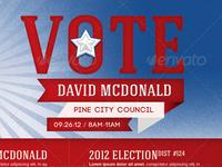 Voter Election Flyer Template Bundle Vol 001