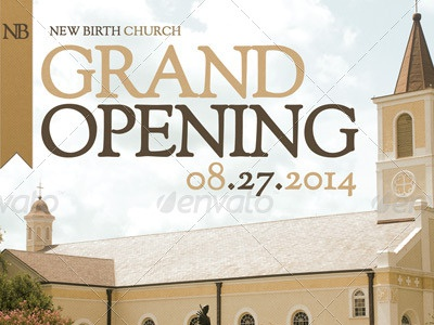 Church Grand Opening Flyer Template By Mark Taylor - Dribbble