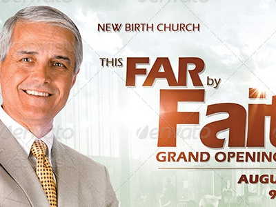 By Faith Church Grand Opening Flyer Template Anniversary Appreciation Banquet Building Celebration Christian Clergy