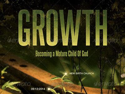 Growth church flyer template 400