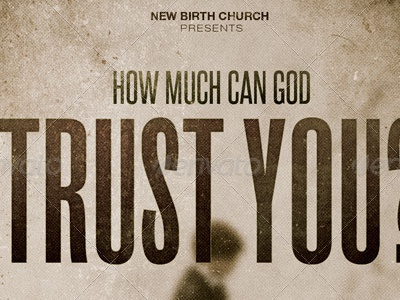 How much can god trust you church flyer template image preview