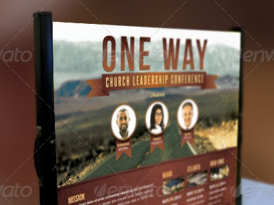 One Way Table Top Church Banner Template