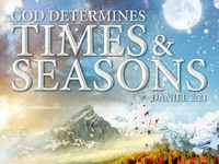 God Determines The Times And Seasons Church Flyer