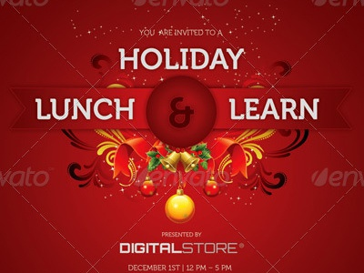 Holiday lunch and learn flyer template image preview